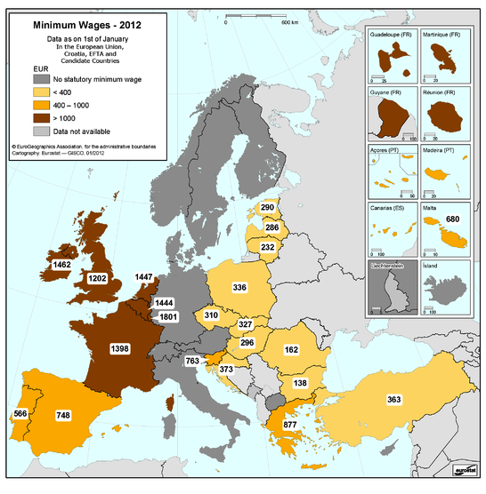 Minimum wages in Europe 2012…Very Interesting!