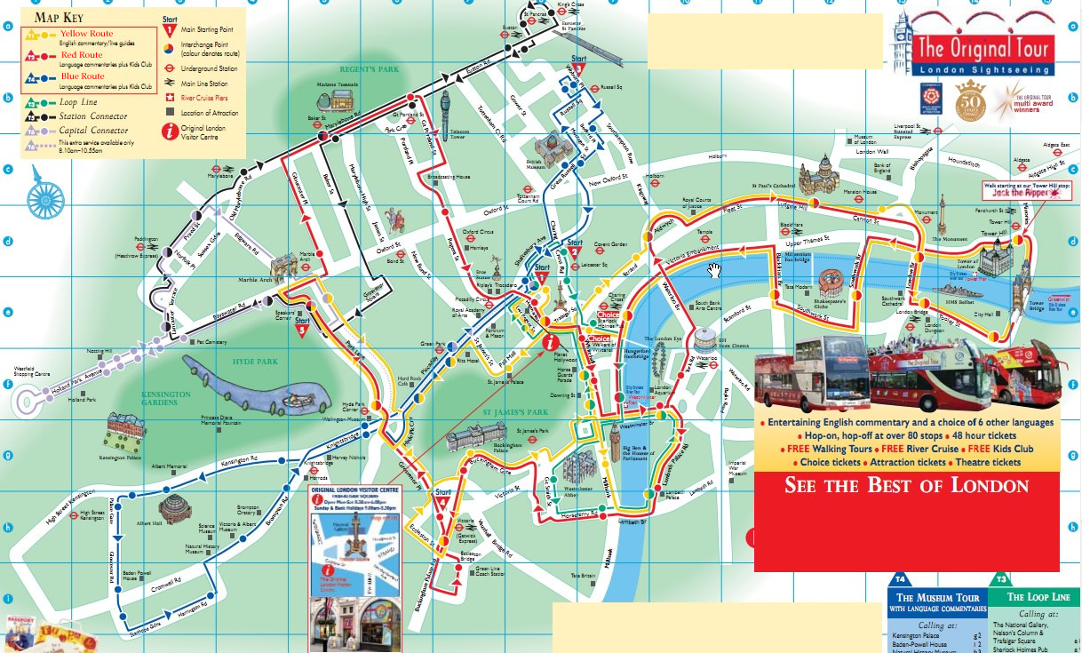 The Original Tour London Sightseeing – London Tourist Maps