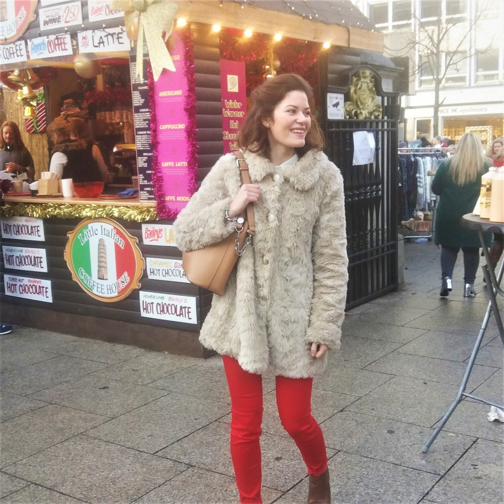 """""""At the Belfast Christmas markets, just after my Visa was approved"""""""