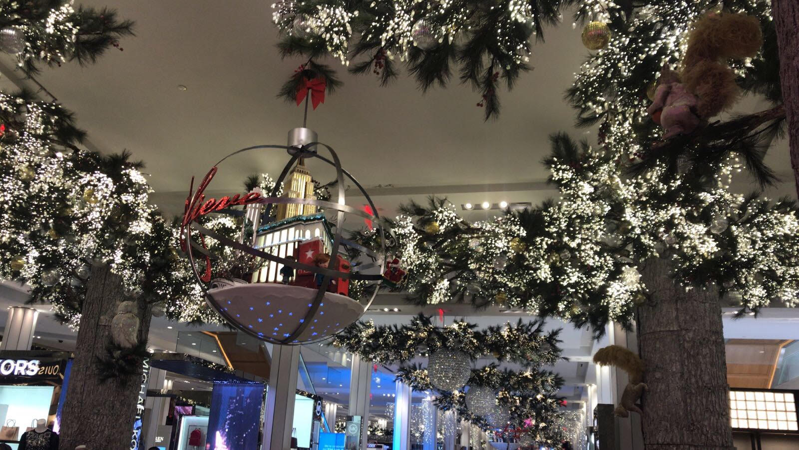 christmas decorations at macys