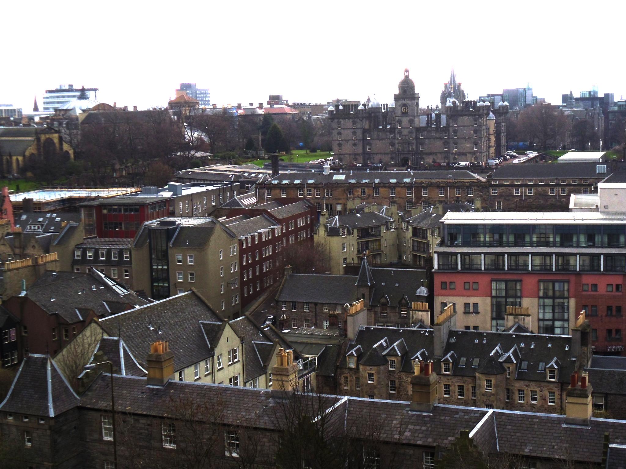 Vista case a Edimburgo