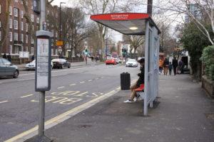 Parada de autobús en Londres