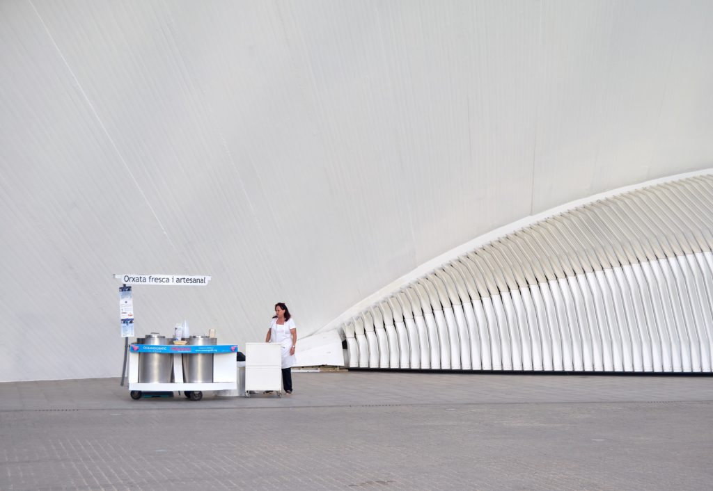 Horchata valenciana - stand Città delle Arti e delle Scienze